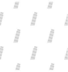 Pisa tower pattern flat vector