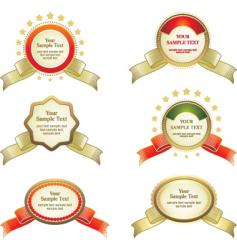 ribbon labels vector image vector image