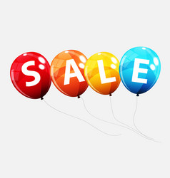 sale balloon concept of discount special offer vector image vector image