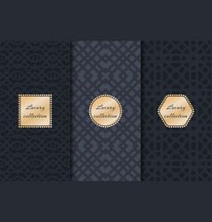 Set of luxury vintage backgrounds vector