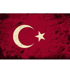 Turkish flag grunge background vector