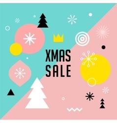 Merry Christmas geometric scandinavian style vector image