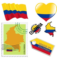 National colours of colombia vector