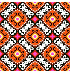 Suzani pattern with bold ornament vector