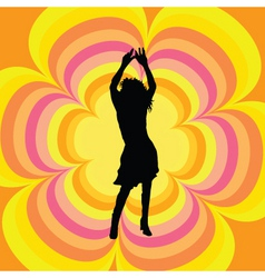 Retro female dancer vector