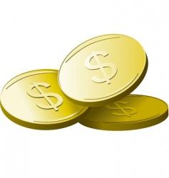 golden dollars vector image