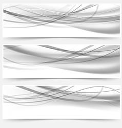 Modern halftone gray headers web collection vector
