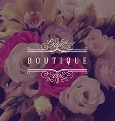 Boutique ornamental logo vector