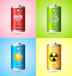 Energy icons vector