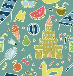 Summer beach holiday seamless pattern vector
