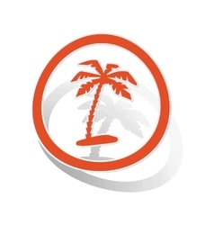 Vacation sign sticker orange vector