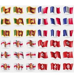 Sri lanka france guernsey hong kong set of 36 vector