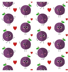 Plums seamless pattern vector