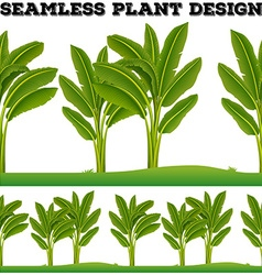 Seamles plants on the ground vector