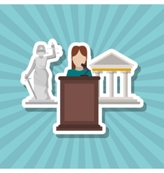 Law and justice court design vector
