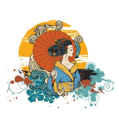 Japanese t-shirt design vector