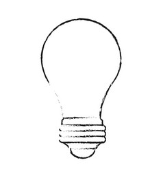blurred silhouette image light bulb off icon vector image