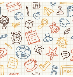 Bright seamless pattern with education and school vector image vector image