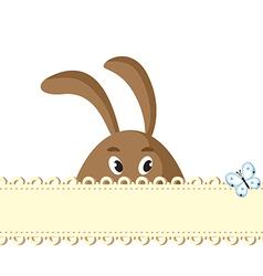 Bunny card vector