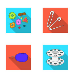 buttons pins coil and threadsewing or tailoring vector image vector image