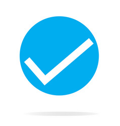 Check mark icon on white background check mark vector