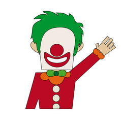 Clown cartoon icon image vector