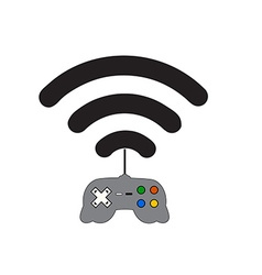 Computer game on the network vector image vector image