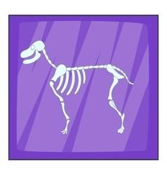 Dog skeleton icon cartoon style vector