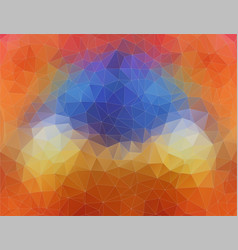 Flat 2d bright orange and blue abstract triangle vector