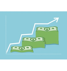 Graph Money dollar Increase revenue The companys vector image
