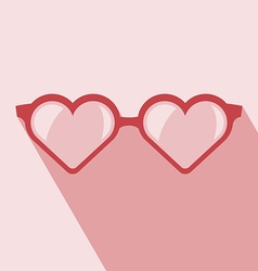 Heart shaped glasses vector image