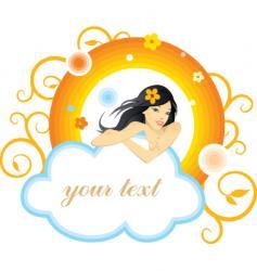 heaven sent vector image vector image