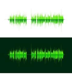 Hq sound waves music waveform green vector