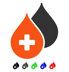 Medical drops flat icon vector