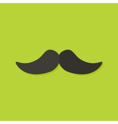 Mustache christmas flat icon vector