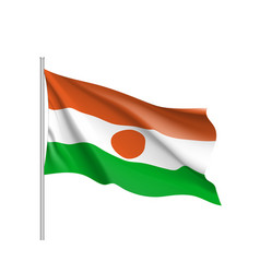 niger realistic flag vector image