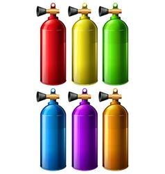 Oxygen tank vector image