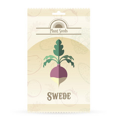pack of swede seeds vector image