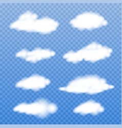 realistic clouds on transparent background vector image