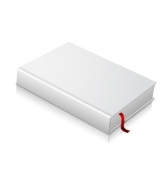 Realistic white blank hardcover book with red vector image vector image