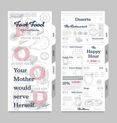 Restaurant or cafe menu vintage design template vector