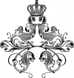 retro crown vector image vector image