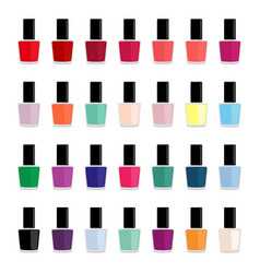 set of colored nail polishes vector image vector image
