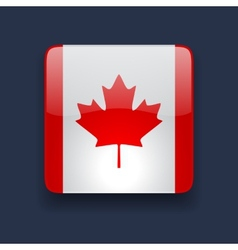 Square icon with flag of canada vector