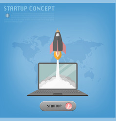 startup concept 1 vector image