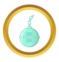 Steel strainer icon vector