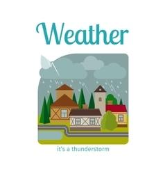 Thunderstorm in town vector