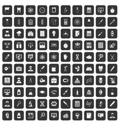 100 lab icons set black vector