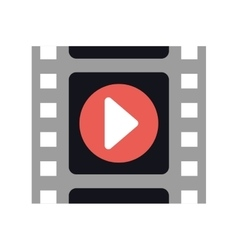 Film strip cinema movie icon graphic vector