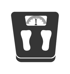 Weight scales diet icon graphic vector